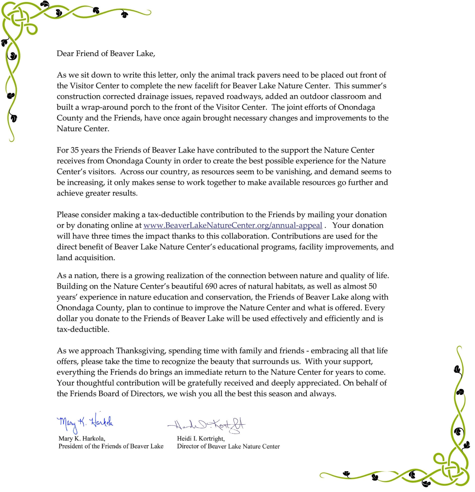 2015 annual appeal letter friends of beaver lake nature center please thecheapjerseys Gallery